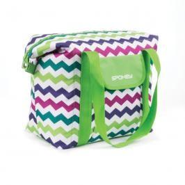 SPOKEY - SAN REMO Plážová termo taška  zelená vzor 52 x 20 x 40 cm