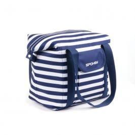 SPOKEY - SAN REMO Plážová termo taška, pruhy - námořnícká modrá, 52 x 20 x 40 cm