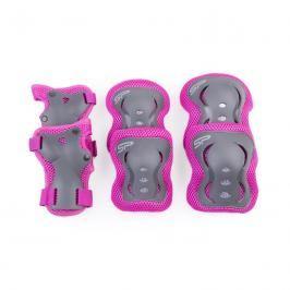 SPOKEY - SHIELD 3-dílná sada dětských chráničů, růžové, vel. M