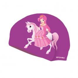 SPOKEY - STYLO Junior Dětská plavecká čepice fialová princezna