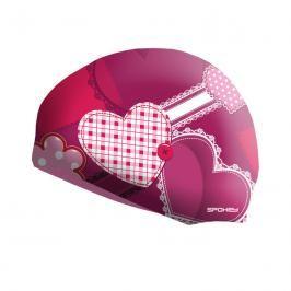 SPOKEY - STYLO Junior Dětská plavecká čepice růžová srdce