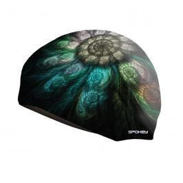 SPOKEY - STYLO  plavecká čepice černá vzor mušle