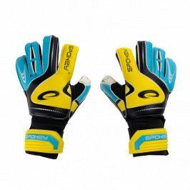 SPOKEY - SUPPORT Brankářské rukavice žluto - modré roz.4