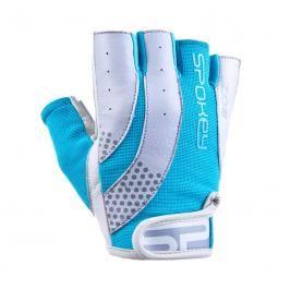 SPOKEY - ZOE II Dámské Fitness rukavice bílo-tyrkysové vel.M