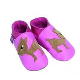 Starchild - Kožené botičky - Fawn Pink - velikost L (12-18 měsíců)