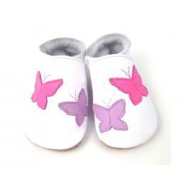 Starchild - Kožené botičky - Flutterbye White - velikost XL (18-24 měsíců)