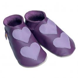 Starchild - Kožené botičky - Lovehearts Grape / mauve - velikost XL (18-24 měsíců)
