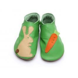 Starchild - Kožené botičky - Rabbit mrkev on green - velikost XL (18-24 měsíců)