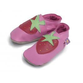 Starchild - Kožené botičky - Strawberry Pink - velikost XL (18-24 měsíců)