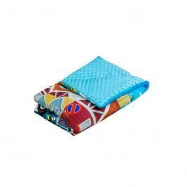 TEGA BABY - Dětská přikrývka 75x100 Cars, modrý