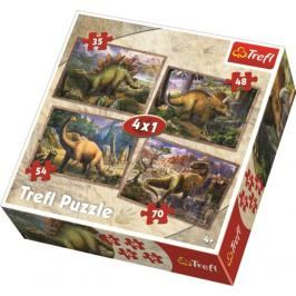 TREFL - Puzzle Dinosauři 4v1
