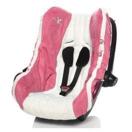 WALLABOO - Dětský potah na autosedačku 0 - 13 kg, Růžová
