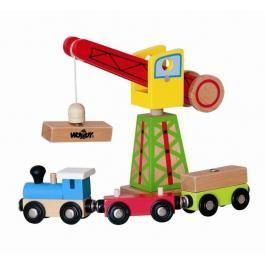 WOODY - 90581 Dřevěný překládací jeřáb s magnetem