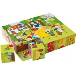 WOODY - Dřevěné kostky Kubus 4x5 Pohádky 90247