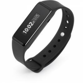 Fitness náramek, voděodolný, Bluetooth 4.0,  Android/iOS, černý (TX-72) (423999)