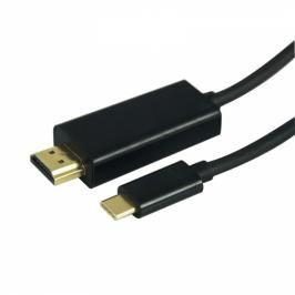 GoGEN HDMI 1,4 / USB typ C 3.1, 1,5m, pozlacený (USBCHDMI150MM01)