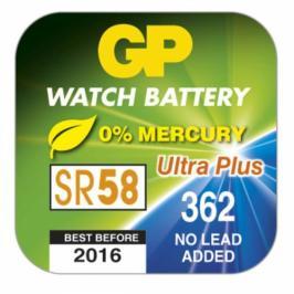 Knoflíková baterie do hodinek GP 362, 10 ks v blistru