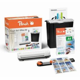 Peach 4v1 Office Kit PBP220, set skartovač, laminátor, řezačka, combi box (510856)
