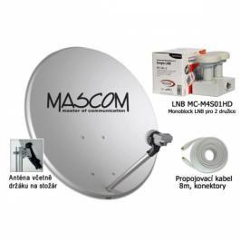 Mascom OP-VJ2 + LNB monoblock + kabel koax