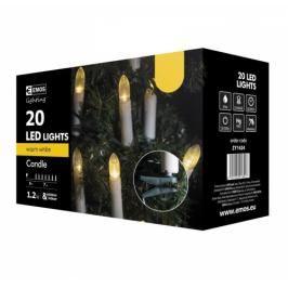 EMOS 20 LED, 7m, řetěz (svíčky),  teplá bílá, i venkovní použití (1534142040)