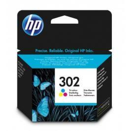 Cartridge HP F6U65AE, 302, Tri-color