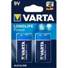 Alkalické baterie VARTA LONGLIFE Power 9V, 2ks