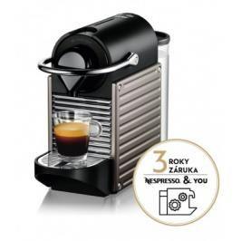 Kapslový kávovar KRUPS Pixie XN304T10 titanový