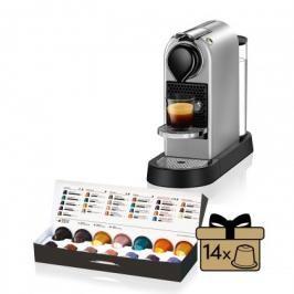 Kapslový kávovar KRUPS Citiz XN741B10 stříbrný