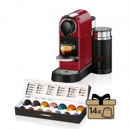 Kapslový kávovar KRUPS Citiz &Milk XN761510 červený