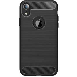 Zadní kryt pro Apple iPhone XS MAX, karbon, černá ROZBALENO