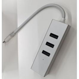 Hub Olpran BL-H01M, USB-C, 3x USB, mini DisplayPort, stříbrná