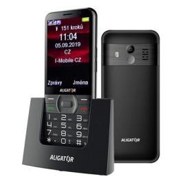 Tlačítkový telefon pro seniory Aligator A900, černá