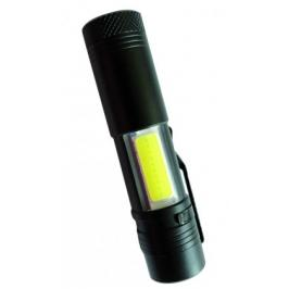 Peacock S600COB 3W XPE + 3W LED COB nabíjecí kovová svítilna