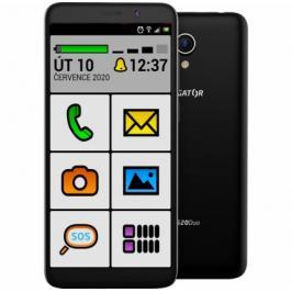 Mobilní telefon ALIGATOR S5520 SENIOR 1GB/16GB, černý