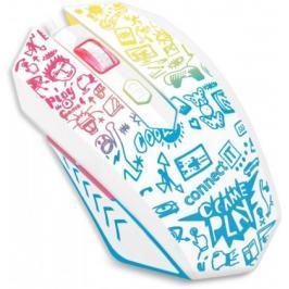 Drátová myš Connect IT Doodle, 6 tlačítek, podsvícená, bílá