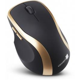 Bezdrátová myš Connect IT CI-260, černo-zlatá