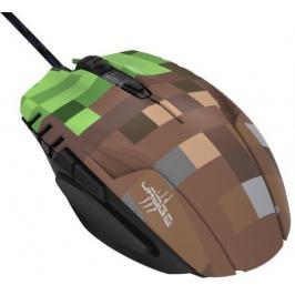 Drátová myš Hama uRage Morph - Bloxx, 6 tlačítek, zelená/hnědá