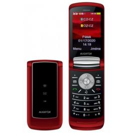 Tlačítkový telefon Aligator DV800, červená