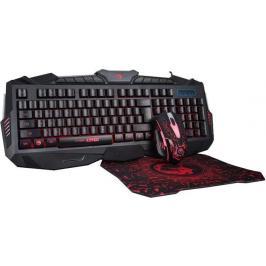 Set Marvo KM400, klávesnice, myš, podložka, herní, černá
