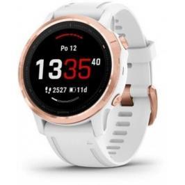 Chytré hodinky Garmin Fenix 6S Pro Glass, bílá/růžová