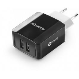 Nabíječka Aligator 3,4A Smart IC, 2x USB, černá