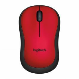 Logitech M220 Silent Mouse for Wireless, červená