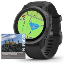 Chytré hodinky Garmin Fenix 6S Pro Sapphire, černá/šedá