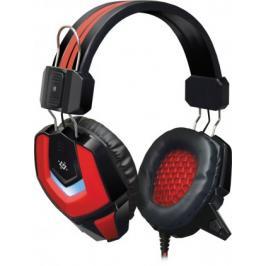 Headset Defender Ridley, s mikrofonem, červeno-černá