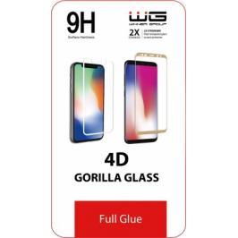 Tvrzené sklo 4D pro Huawei Y6P/Honor 9A, Full Glue, černá