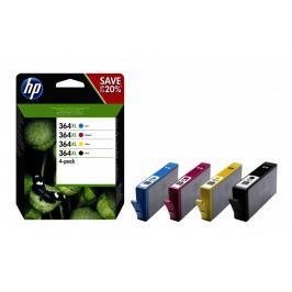 Cartridge HP N9J74AE, 364XL, čtyřbalení, CMYK