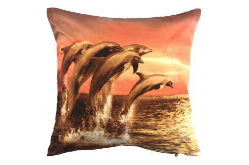 Apex 3D povlak 45x45 Delfíni Ložní povlečení