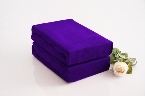 TP Froté prostěradlo Premium 190g/m2 180x200 Tmavě fialová Prostěradla