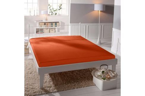 TP Jersey prostěradlo Premium 190g/m2 140x200 Oranžová Prostěradla