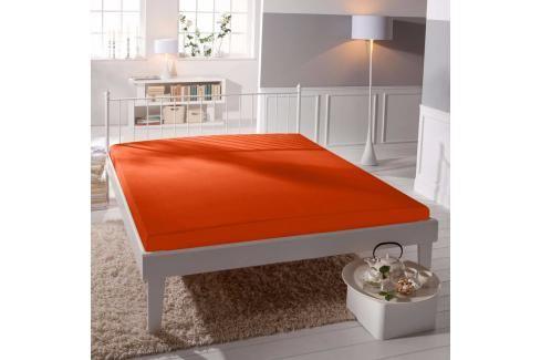 TP Jersey prostěradlo Premium 190g/m2 160x200 Oranžová Prostěradla